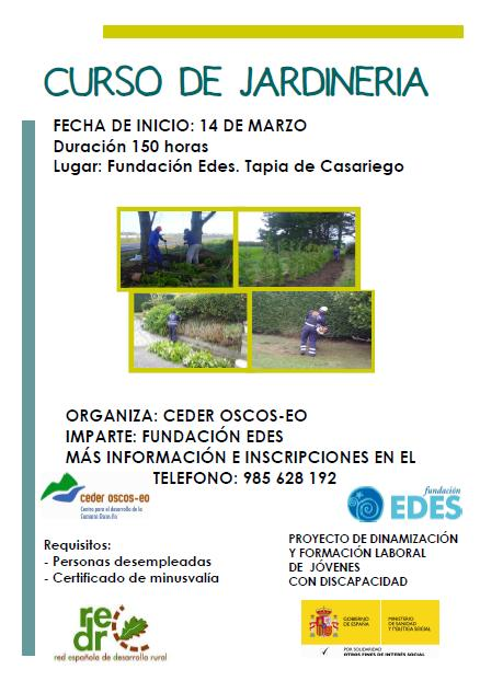 Ceder oscos eo empleo y desarrollo local for Aprender jardineria