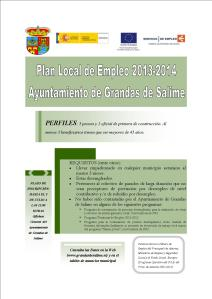 Cartel Grandas Plan Local de Empleo 2013-2014