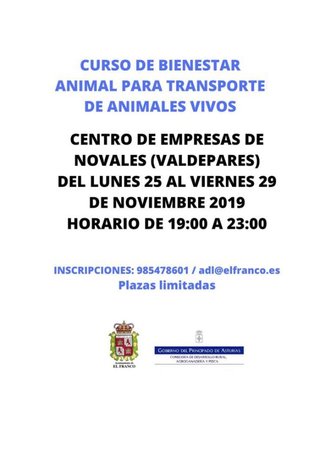 CURSO BIENESTAR ANIMAL, EL FRANCO
